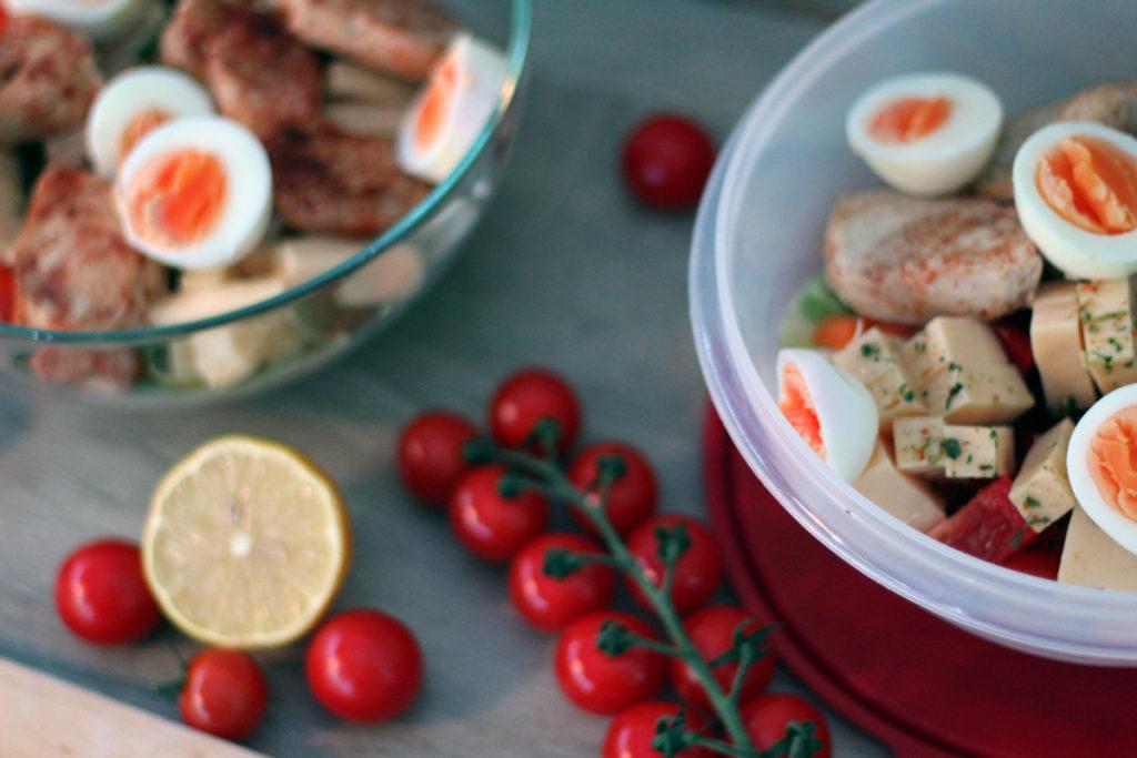 Einfache und schnelle Rezepte - Eiweißsalat