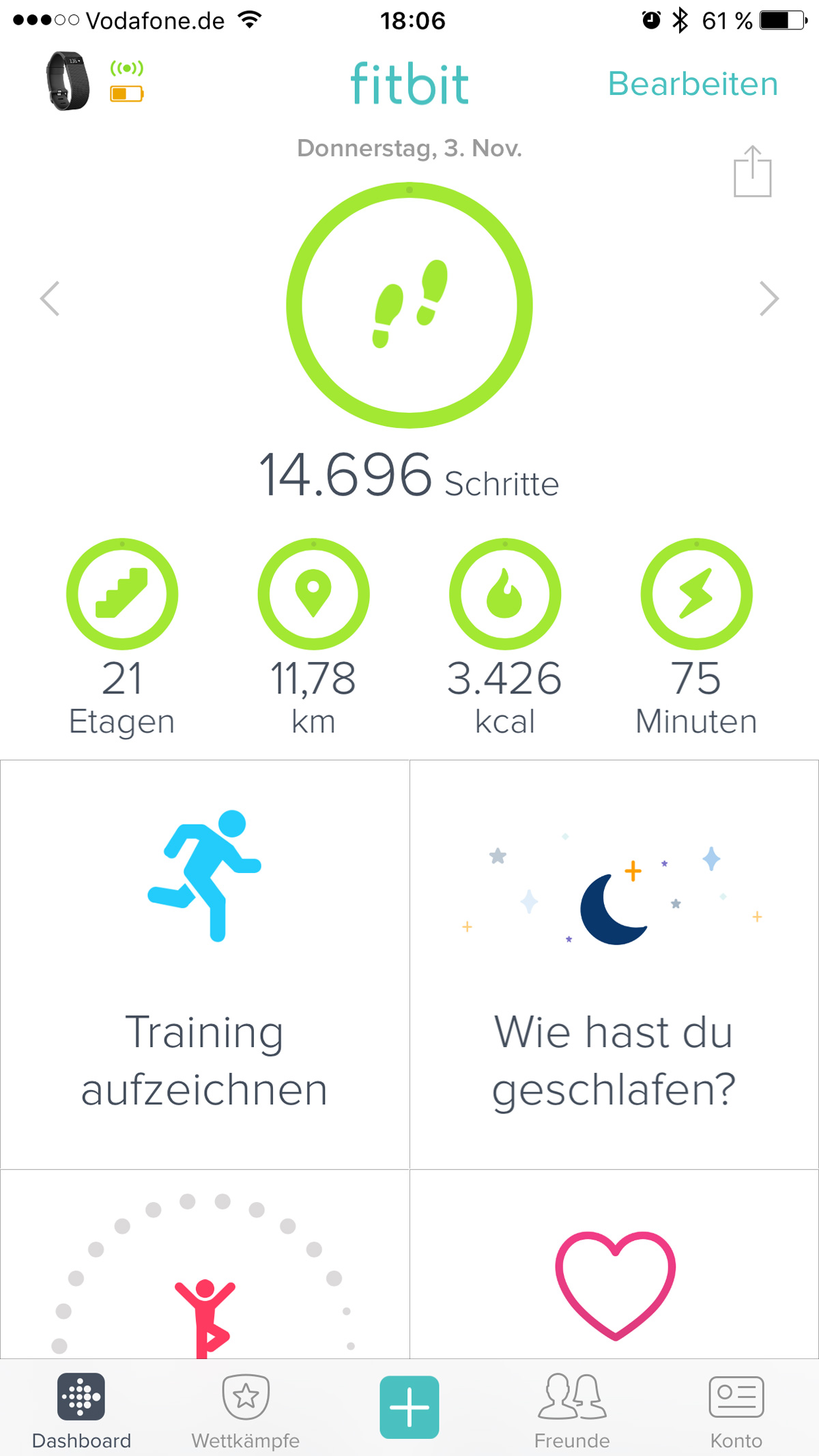 Fitbit App - Fitnesstracker