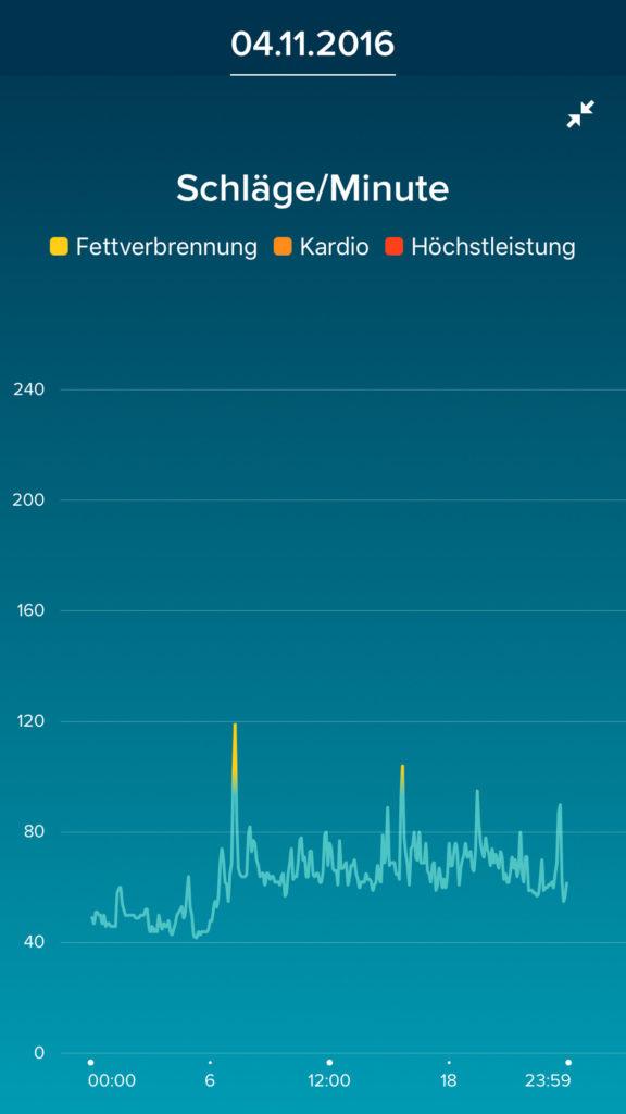 Fitbit App - Herzfrequenz