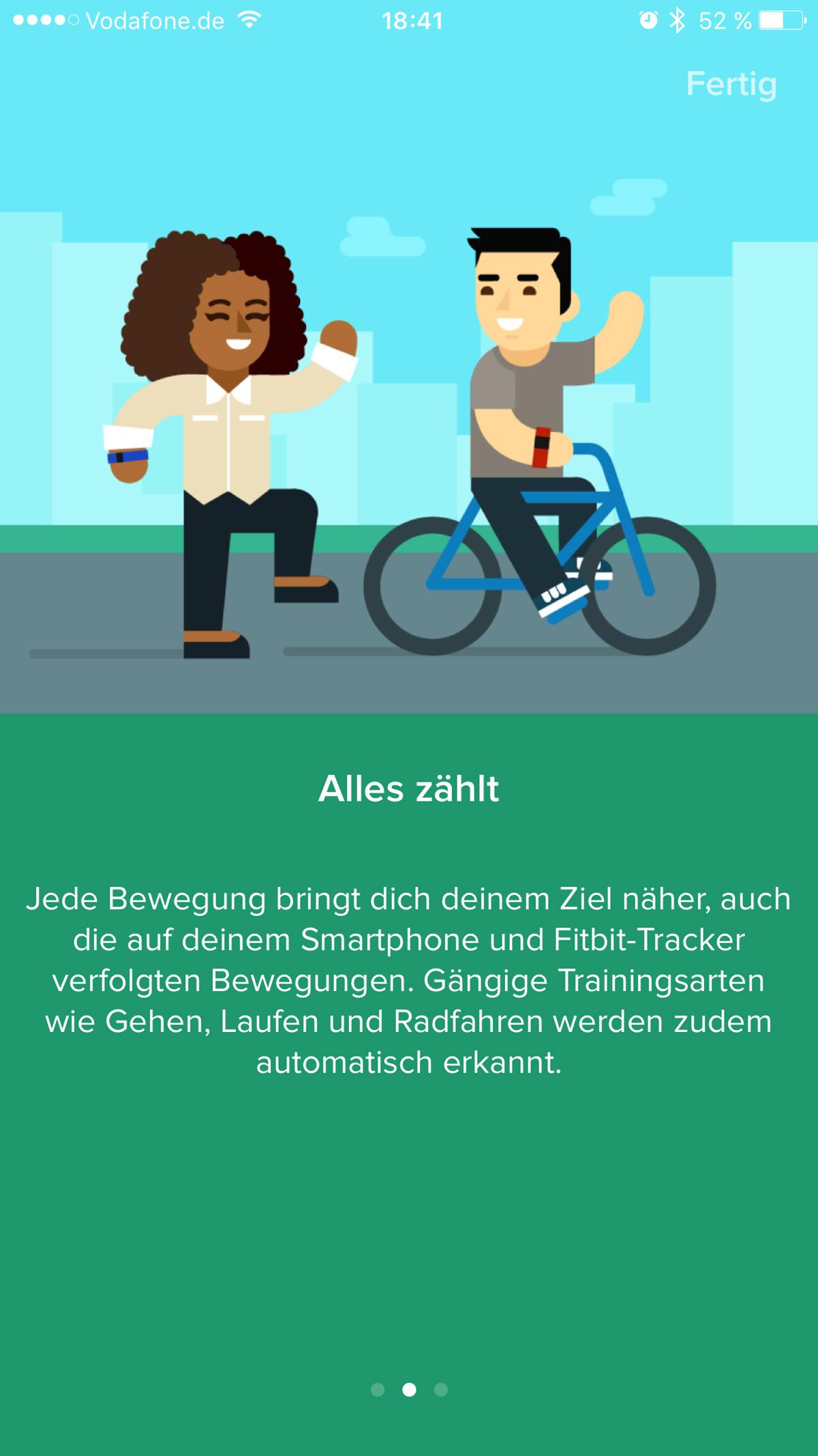 Fitbit App - Training aufzeichnen - Einstellungen