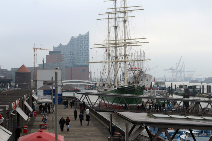 Hamburger Hafen Skyline