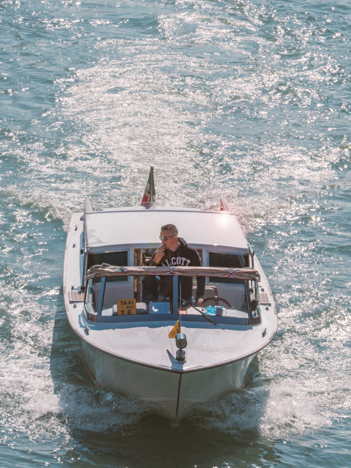 Boot-Taxi in Venedig