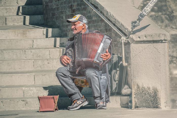 No goes von Venedig - Picknik auf der Plaza