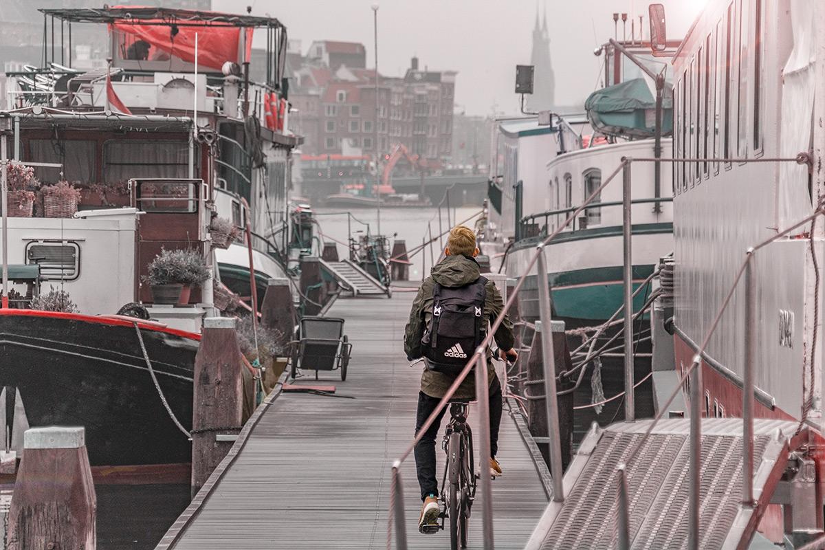 Amsterdam Fahrradtour und Hausboote