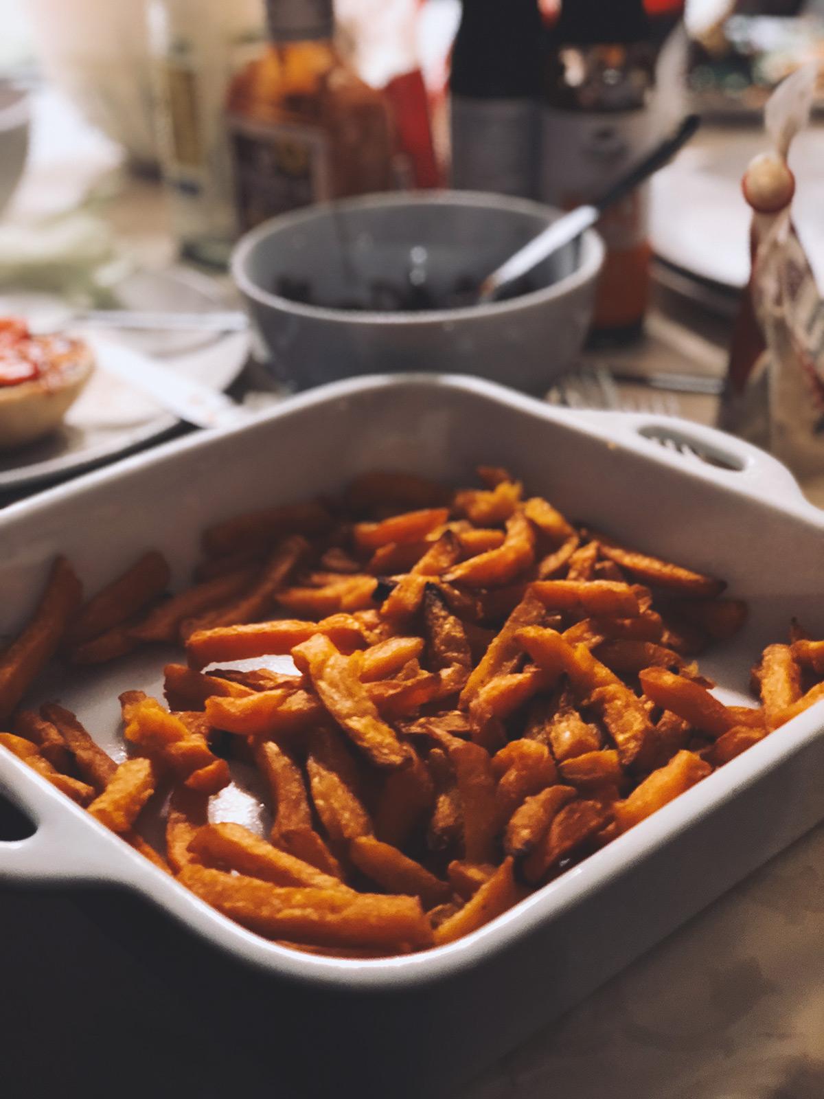 Super Bowl Nacht 2018 Süßkartoffelpommes