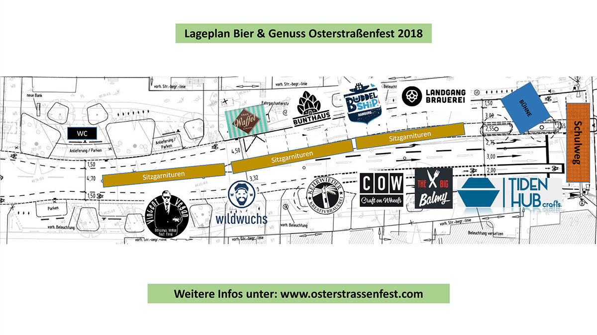 Osterstraßenfest Hamburg Eimsbüttel Lageplan Bier und Genuss