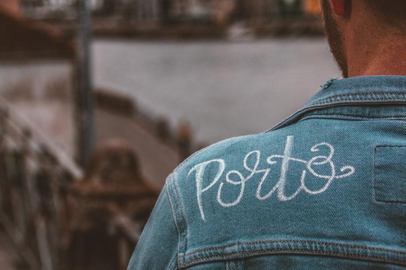 Porto Jeansjacke Handwriting