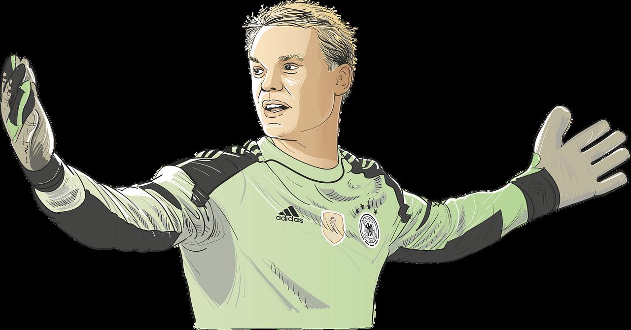 Fußball Weltmeisterschaft verbindet - Manuell Neuer
