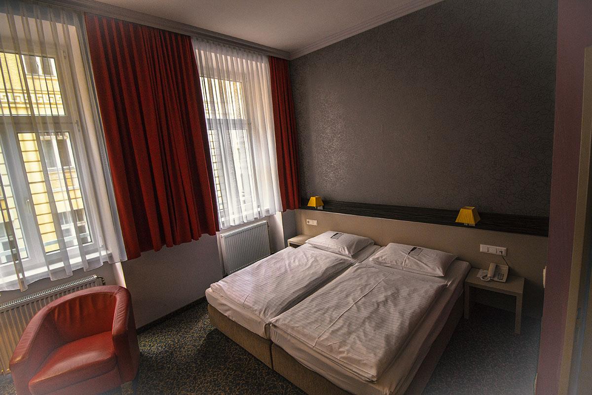 Hotel Der Wilhelmshof Wien Doppelbett