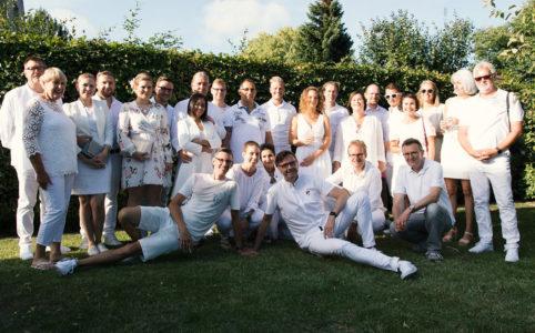 White Party Hochzeitsfoto