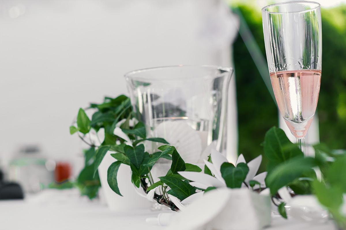 White Party Tischdekoration