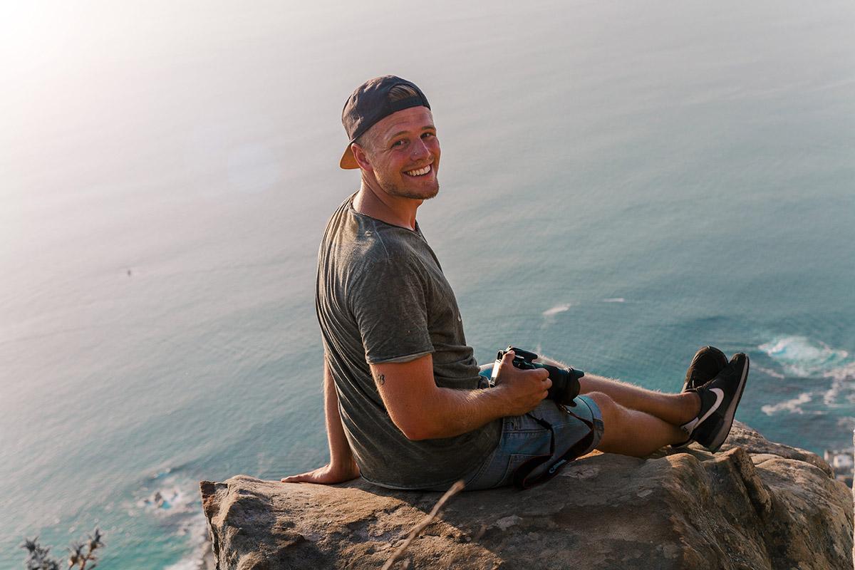 Fabi auf dem Lions Head Südafrika Reisebericht