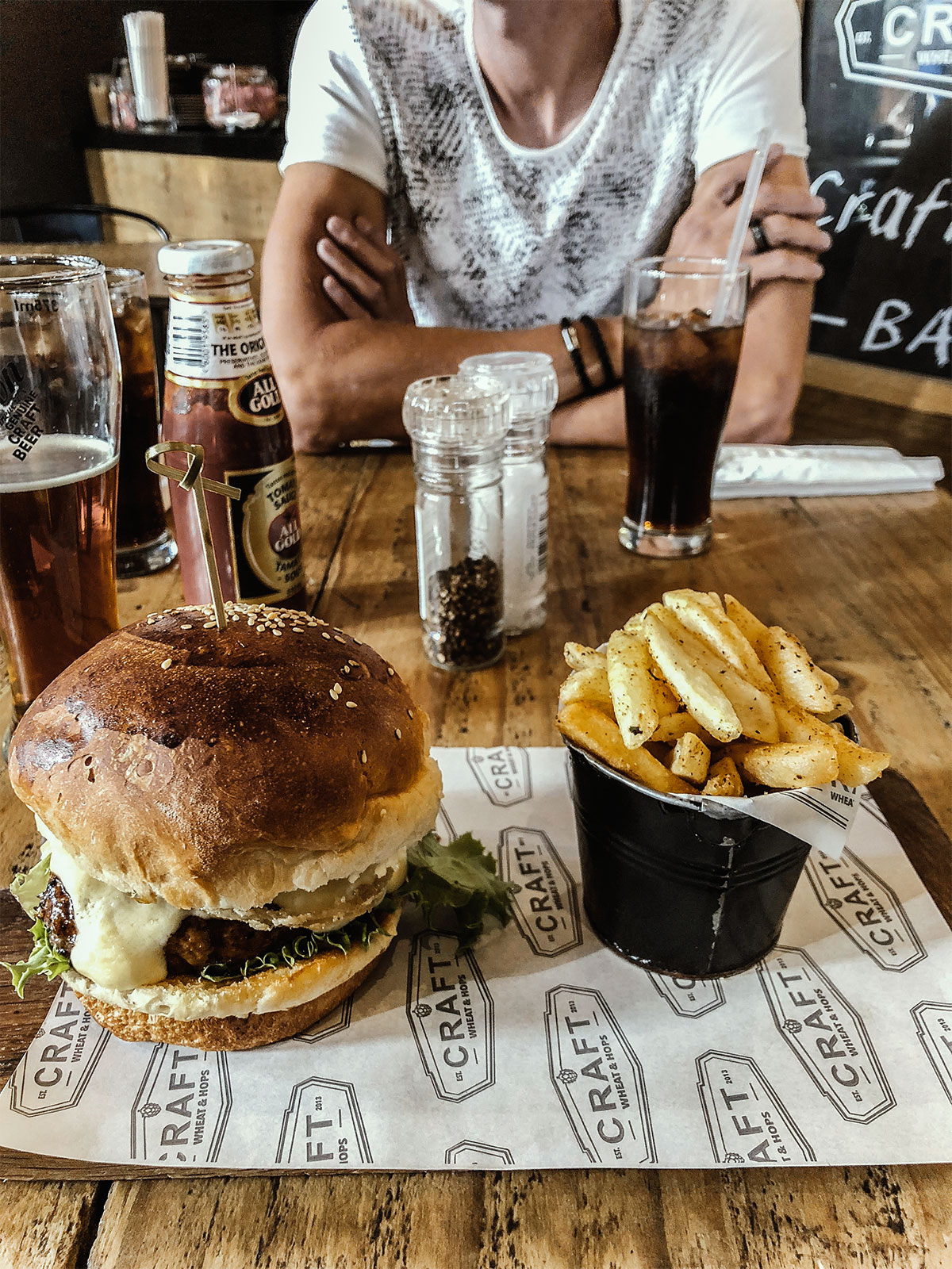 Stellenbosch Craft and Gin - Burger essen