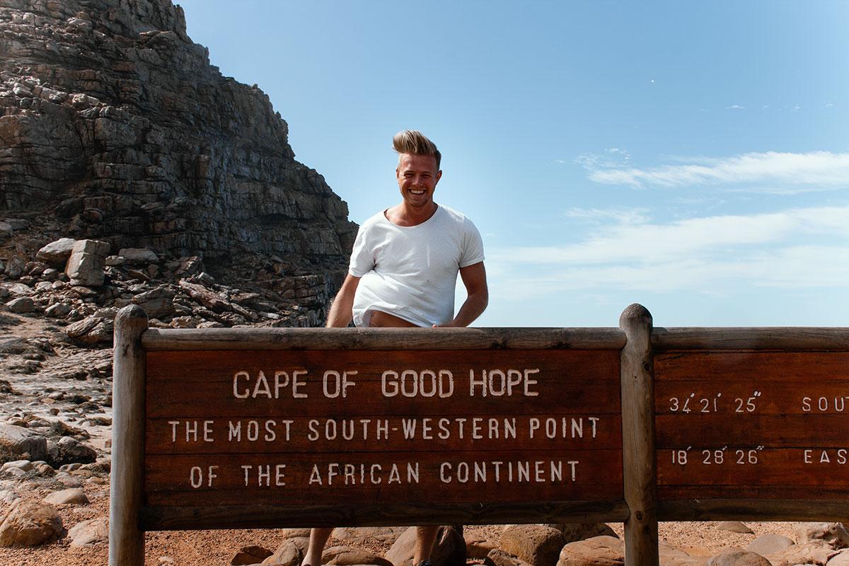 Kap der guten Hoffnung Schild Südafrika Reisebericht