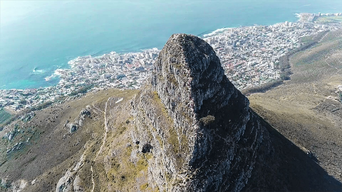 Lions Head im Hintergrund Sea Point