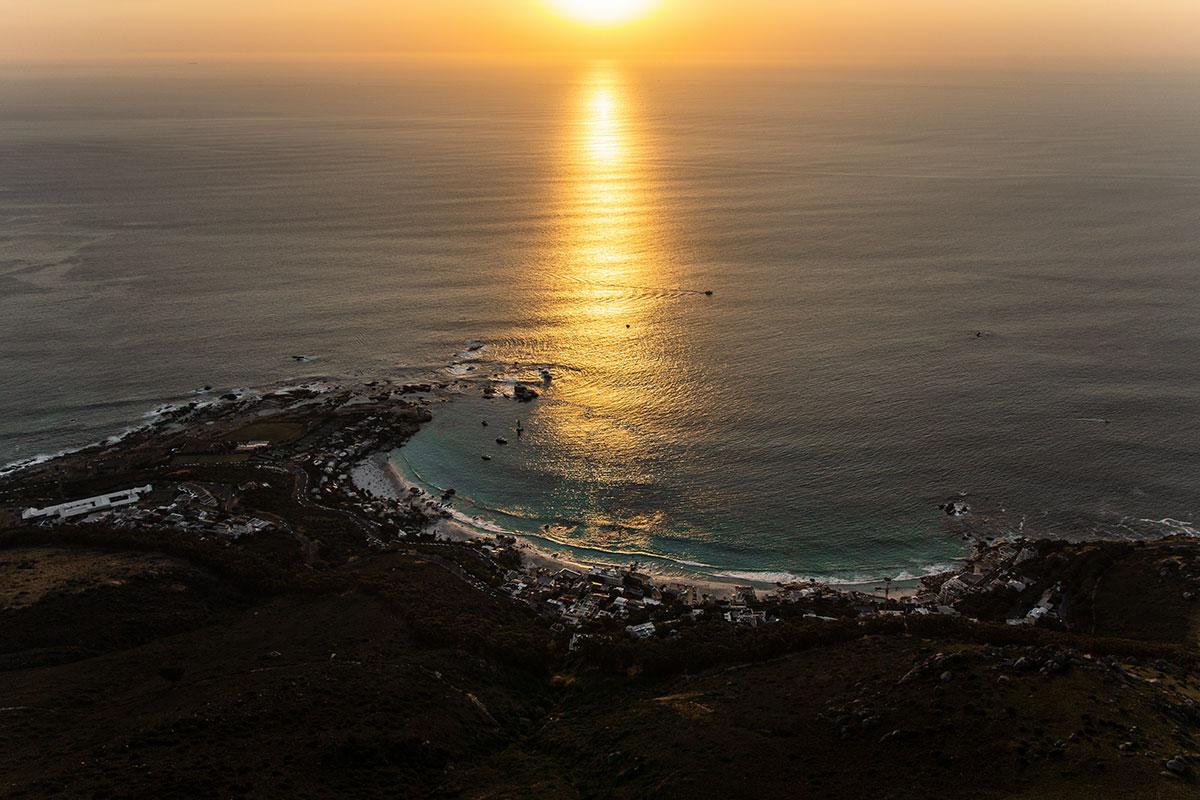 Lions Head toller Sonnenuntergang Bucht