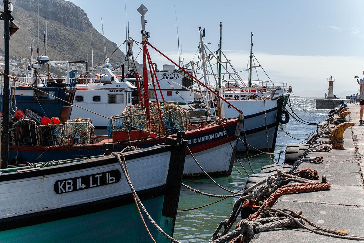 Simon's Town Kalkberg Bay Bootsanleger im Hafen