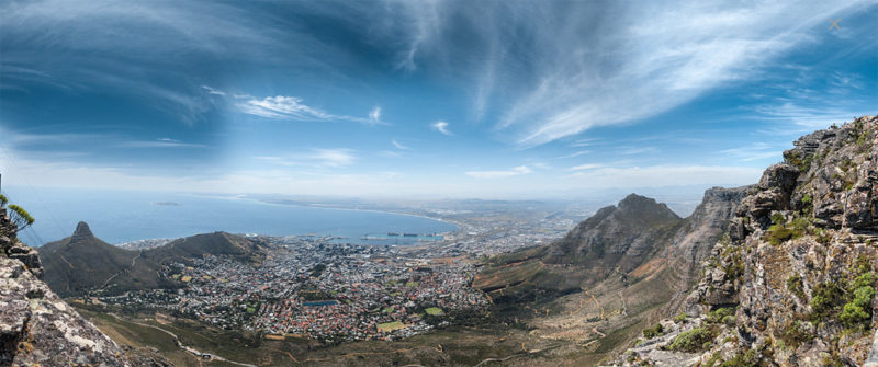 Tafelberg Kapstadt Überblick Panorama