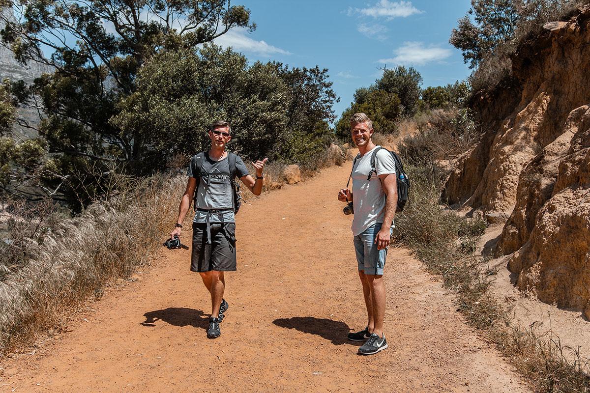 Wanderung auf den Lions Head Aufstieg