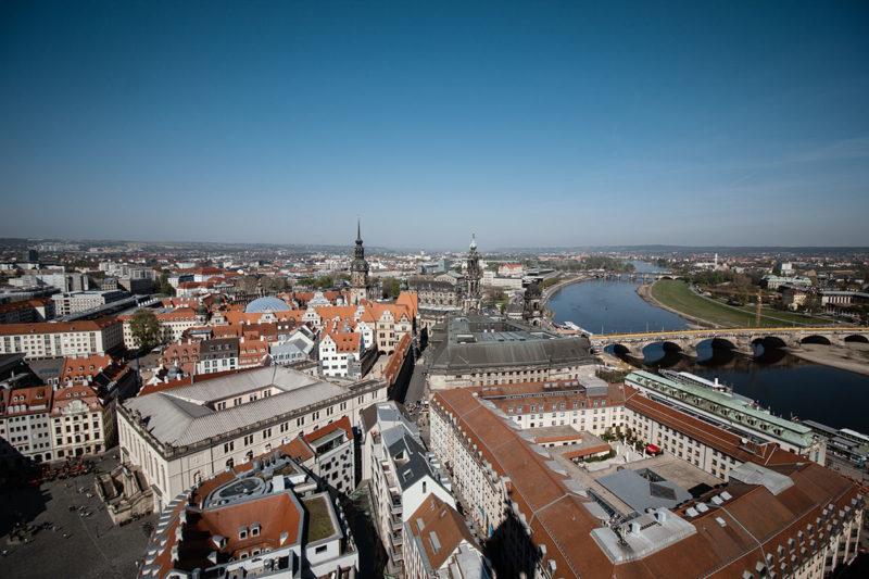 Dresden Blick über die Altstadt von der Frauenkirche