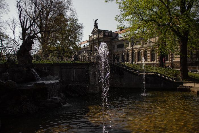 Brunnen im Brühlschen Garten