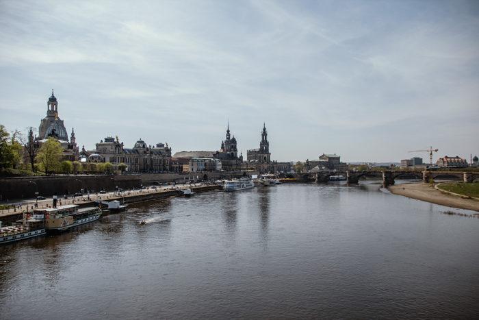 Altstadt und Elbe Dresdens