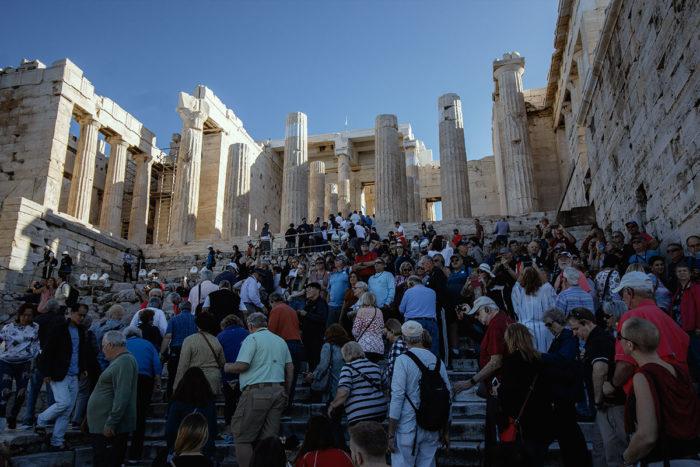 Tourismus auf der Akropolis
