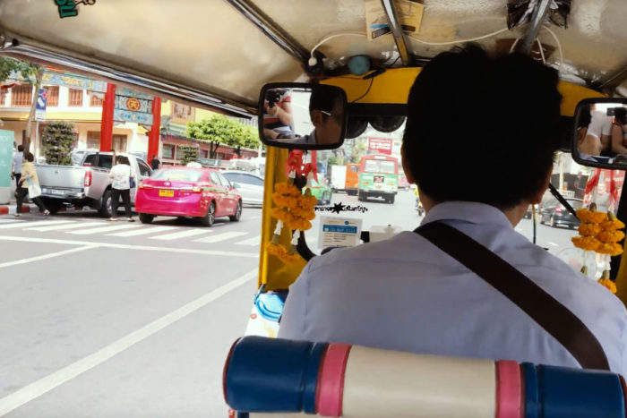 Tuk-Tuk Taxi zum International Fashion Center Bangkok