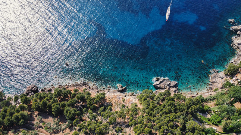 Mallorca Roadtrip Helikopter View